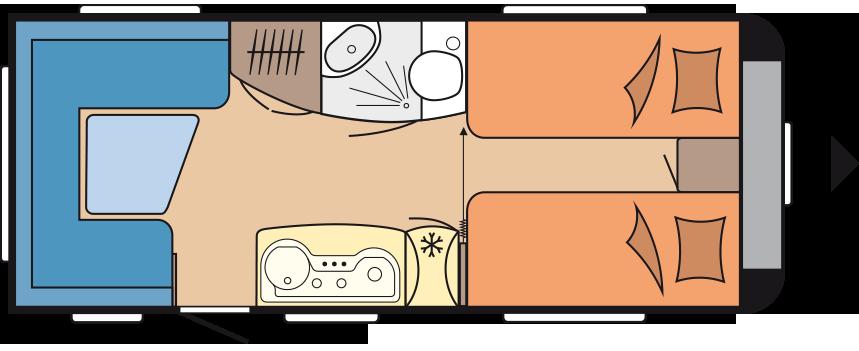 Wohnwagen Hobby de Luxe 495 UL